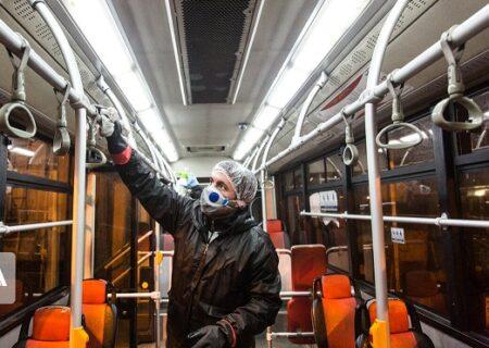 ایمن سازی ناوگان حمل و نقل عمومی منطقه۲ در برابر کرونا