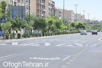 توسعه و بازپیرایی فضای سبز بزرگراه جلال آل احمد