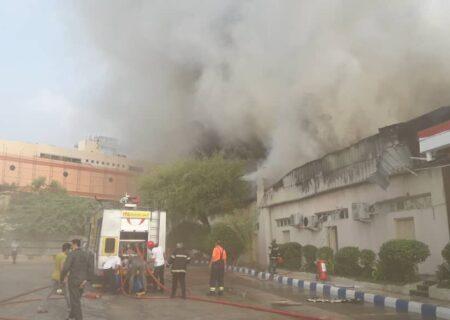 آتش سوزی گسترده در بازار کیش