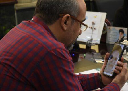 دیدار مجازی با خانواده شهید خبرنگار