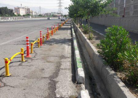 دوچرخه سواری ایمن در بزرگراه های شرق تهران