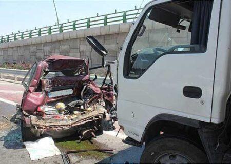 تصادف زنجیرهای بزرگراه مدرس تهران