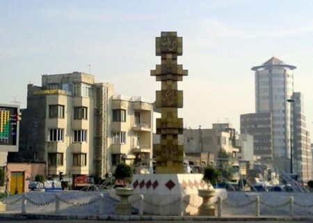 آذین بندی میدان جمهوری تهران با المانهای نوری